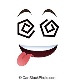 crazy tongue out emoticon face icons