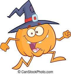Crazy Witch Pumpkin Running