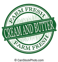 Cream and butter