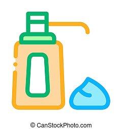 cream bottle icon vector outline illustration