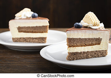 cream cake on the table