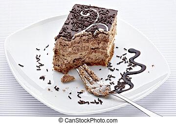 cream chocolate cake sweet food
