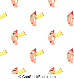 Cream for face icon in cartoon style isolated on white background. Skin care pattern stock vector illustration.