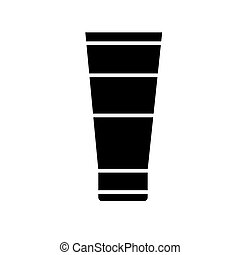 cream icon, vector illustration, black sign on isolated background