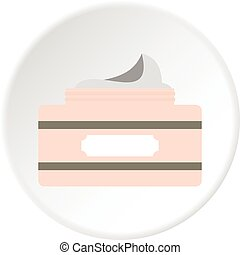 Cream in a jar icon circle