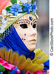 Cream mask at Venice Carnival