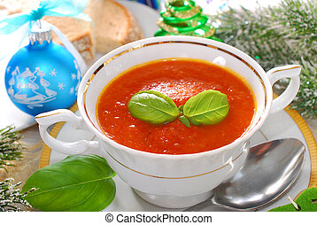 cream of red pepper and tomato soup for christmas