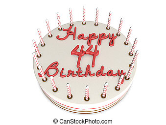 cream pie for 44th birthday