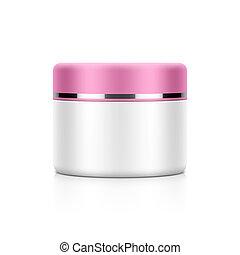 Cream, powder or gel jar