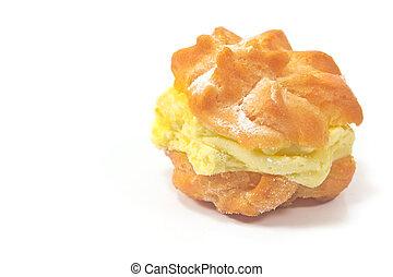 Cream Puff isolated on white