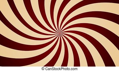 Cream red pinwheel counter clockwise