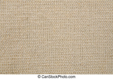 Cream texture canvas fabric background.