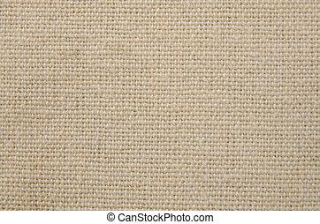 Cream texture canvas fabric background.