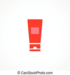 Cream tube icon on white background