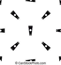 Cream tube pattern seamless black - Cream tube pattern...
