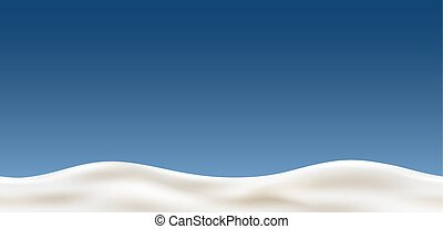 Cream wave on blue background