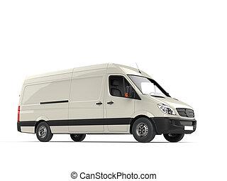 Cream white modern delivery van