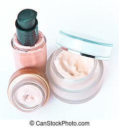 creams and makeup - set of nourishing creams and makeup