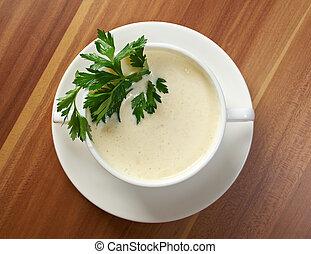 creamy cauliflower soup - bowl of creamy cauliflower soup