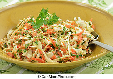 Creamy coleslaw - Traditional coleslaw with sweet cabbage,...