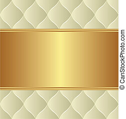 creamy gold background with copy space