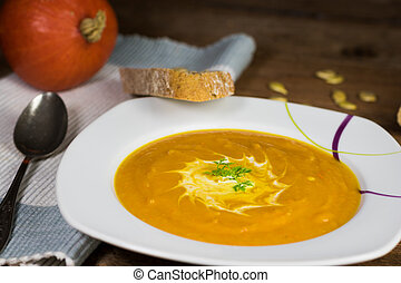 Creamy pumkin soup