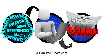 crear, cómo, resumen, escribir, persona, pasos, documento, ...
