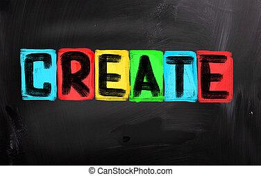 crear, concepto