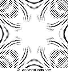 creare, caotico, modello, astratto, linee, style., effects., visuale, fondo, geometrico, foderare, illusione, ottico