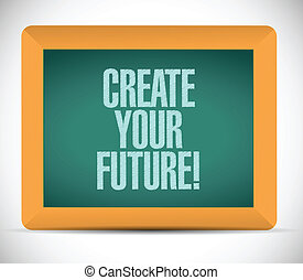 creare, illustrazione, futuro, disegno, messaggio, tuo