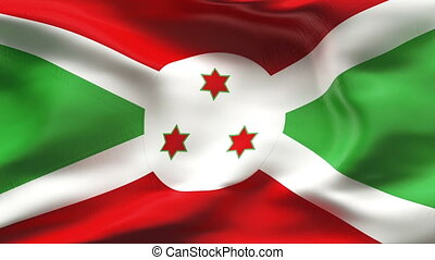 Creased BURUNDI flag in wind