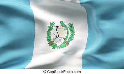 Creased  GUTEMALA  flag in wind