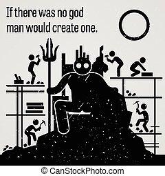 creat, 會, 不, 上帝, 在那裡, 人, 是, 如果