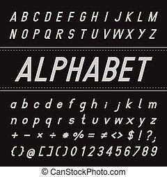 Alphabet Vector Font Design