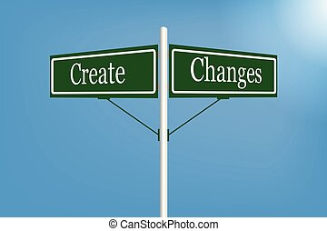 Create changes sign element vector