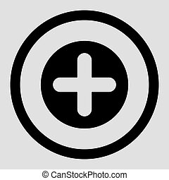 Create flat black color rounded vector icon