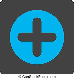 Create flat blue and gray colors rounded button