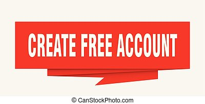 create free account sign. create free account paper origami...