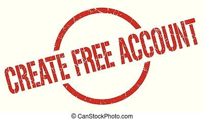 create free account red round stamp
