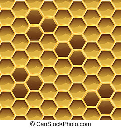 Create honeycomb with larvae texture, stock vector