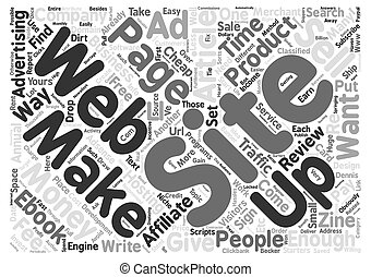 Create Huge Income From Your Web Site Easy Ways text background word cloud concept
