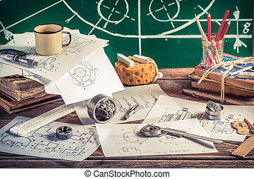 Create mechanical parts on paper