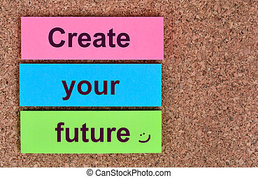 Create your future words on notes