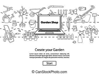 Create your Garden Website Template