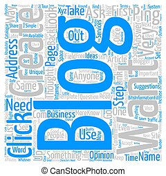 Create Your Very Own Blog text background wordcloud concept