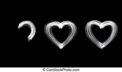 Created by light alphabet over black background. Drawing ...