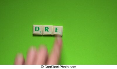 "Created word of ""dream"" with the letters on the green..."