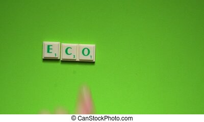 """Created word of """"economy"""" with the letters on the green..."""