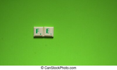 "Created word of ""feel"" with the letters on the green..."