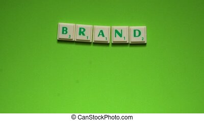 """Created words of """"brand product"""" with the letters on the..."""
